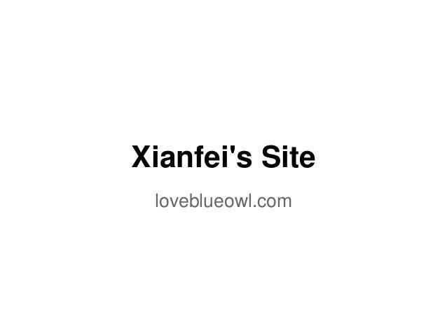 Xianfei's Site loveblueowl.com