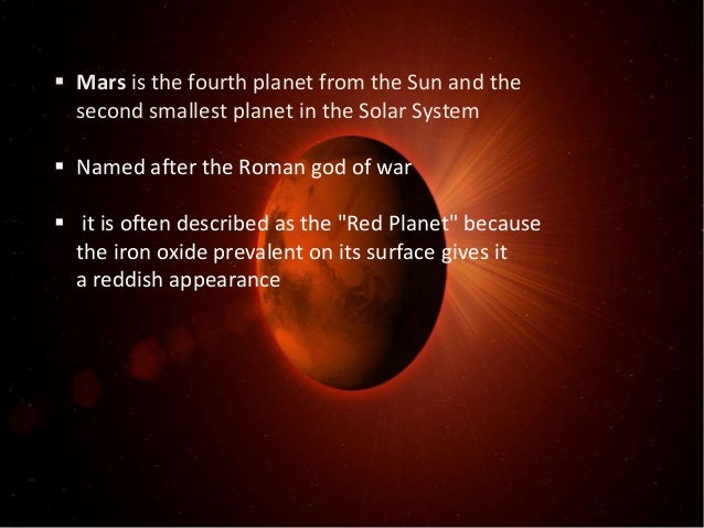 Mars is the fourth planet from the Sun - Red Girl Blog