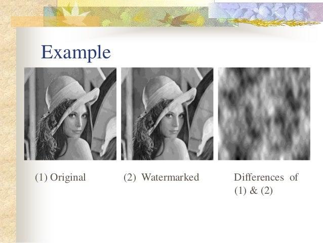 Master thesis on watermarking