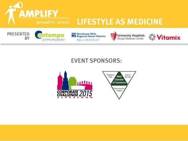 April 2015 Amplify - Lifestyle as Medicine