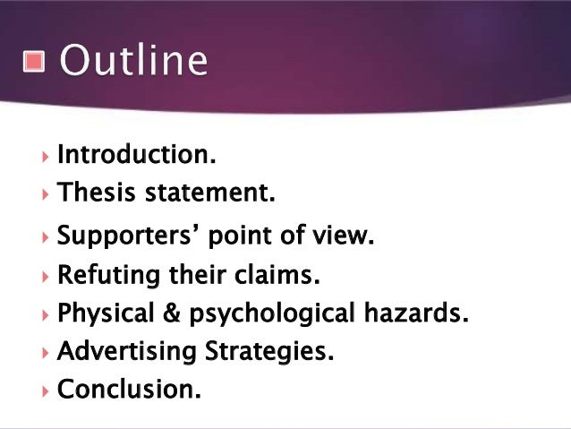 Preliminary thesis statements