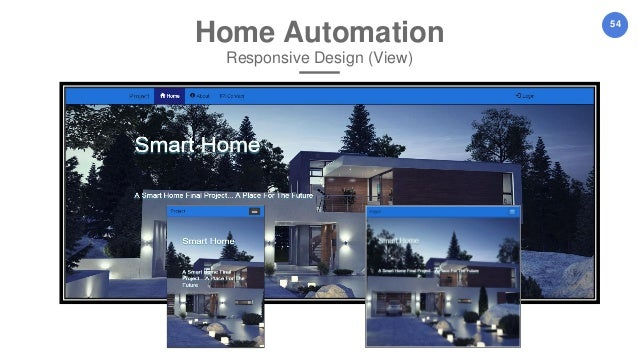 54 home automation responsive design view