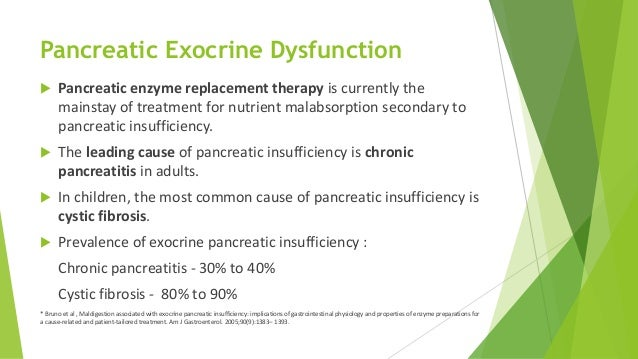 Pancreatic enzyme replacement therapy in pancreatic insufficiency