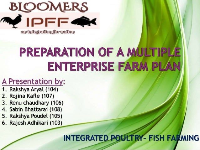 Presentation of preparation of multiple enterprise farm plan