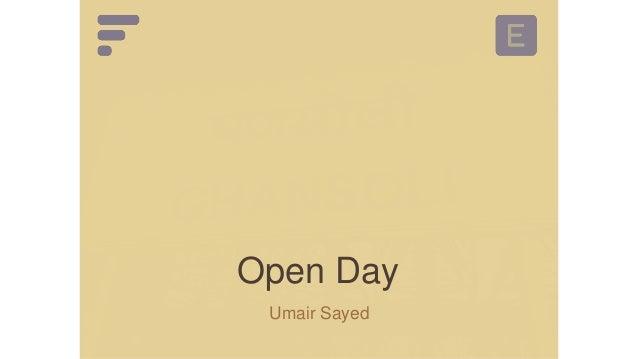 Open Day Basawaraj Savalagi