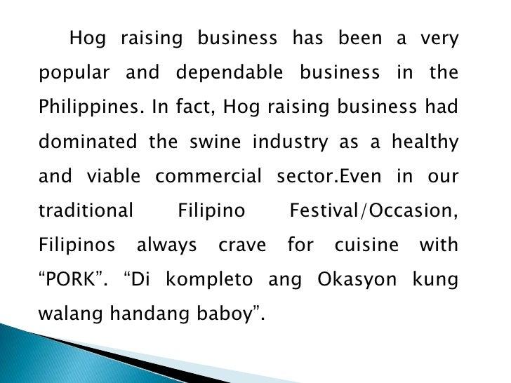 Hog raising feasibility