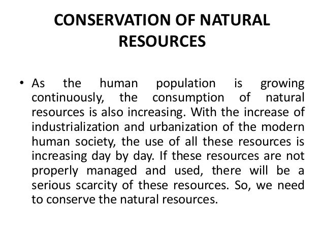Conservation of natural resources water soil and forest for Natural resources soil uses