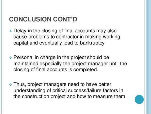 conclusion in a project