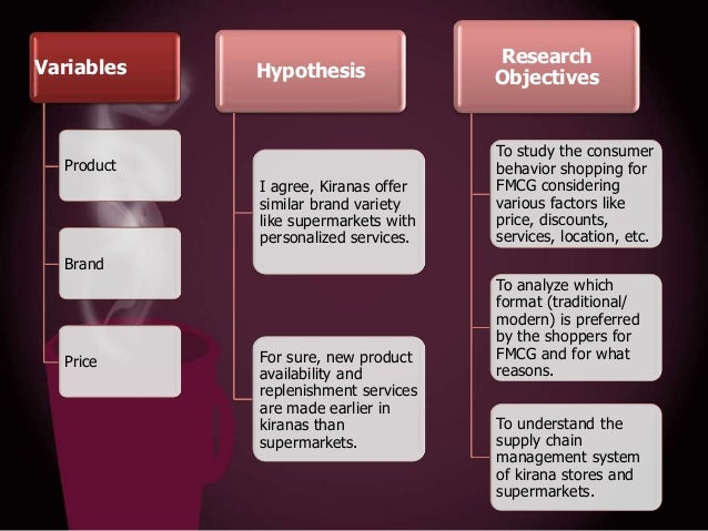 Hypothesis  Research Objectives  I agree, Kiranas offer similar brand variety like supermarkets with personalized services...