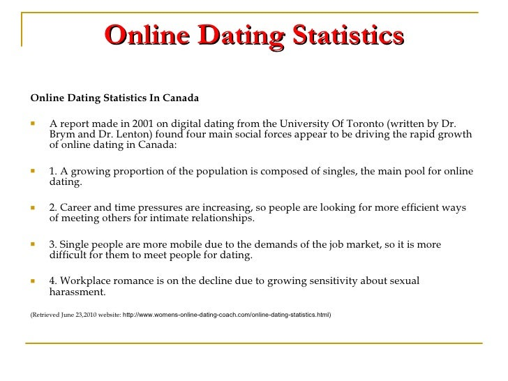 online dating stats canada