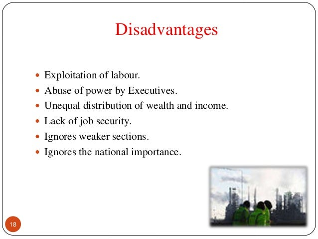 disadvantages of national income