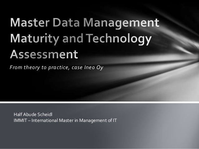 From theory to practice, case Ineo OyHalf Abude ScheidlIMMIT – International Master in Management of IT