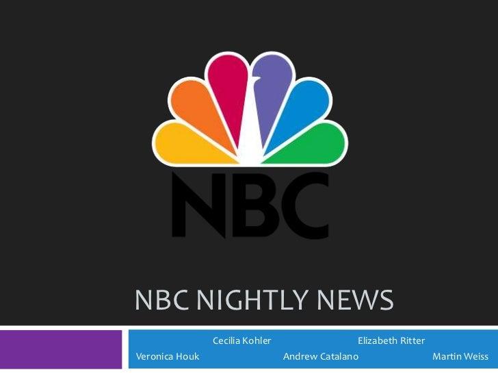 NBC Nightly News<br />             Cecilia Kohler           Elizabeth Ritter<br /> Veronica Houk Andrew Catalano Ma...