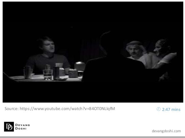 devangdoshi.com Source: https://www.youtube.com/watch?v=84OT0NLlqfM  2:47 mins