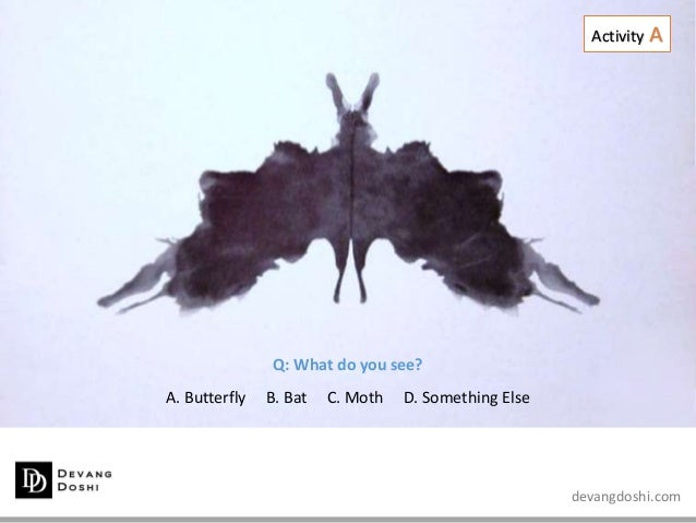 devangdoshi.com Q: What do you see? A. Butterfly B. Bat C. Moth D. Something Else Activity A