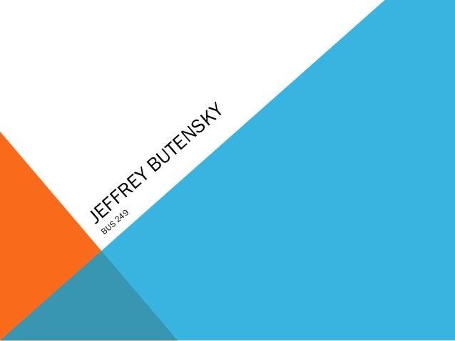 JEFFREY BUTENSKY BUS 249