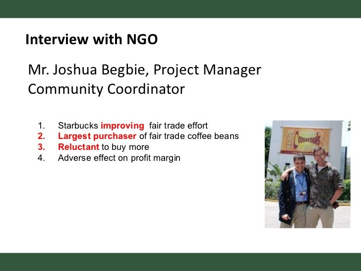 recommendations for starbucks csr The corporate social responsibility debate zachary cheers a senior thesis submitted in partial fulfillment of the requirements for graduation in the honors.