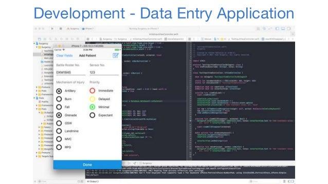 Development - Data Entry Application