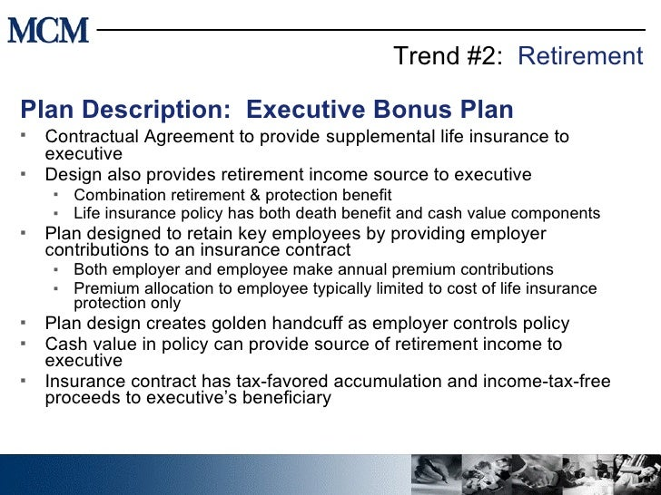 Trends in Executive Benefits – Bonus Plan Template