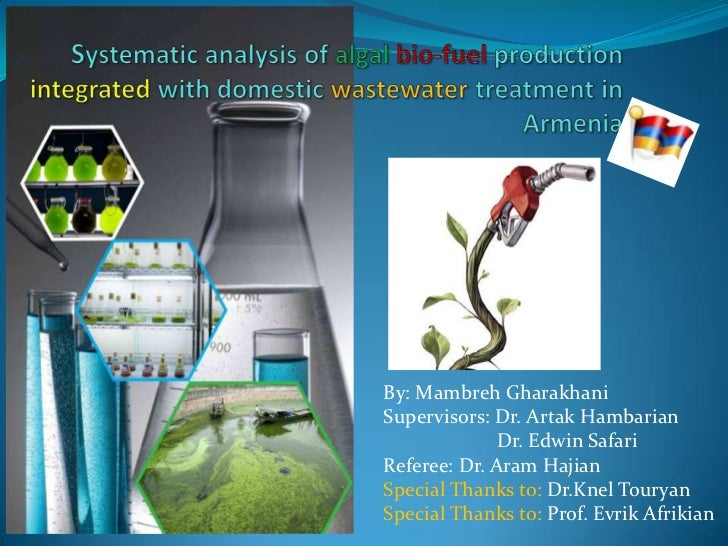 Systematic analysis of algalbio-fuel production integrated with domestic wastewater treatment in Armenia<br />By: Mambreh ...