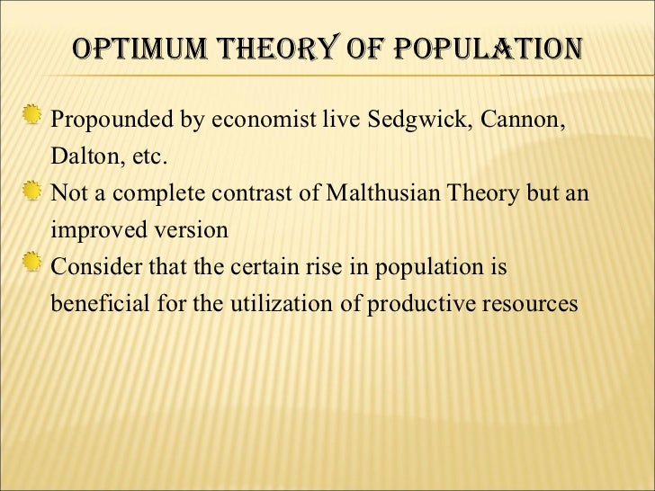 malthus and the analysis of population Pertaining to the theories of malthus, which state that population increases malthusian - a believer in malthusian theory is ripe for malthusian analysis.
