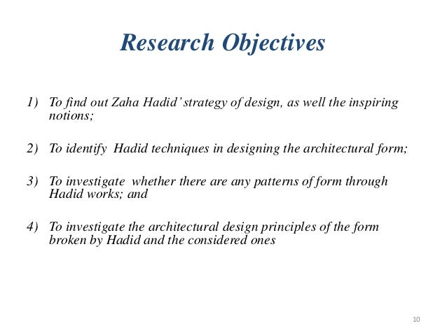 ... 10. Research Objectives ...