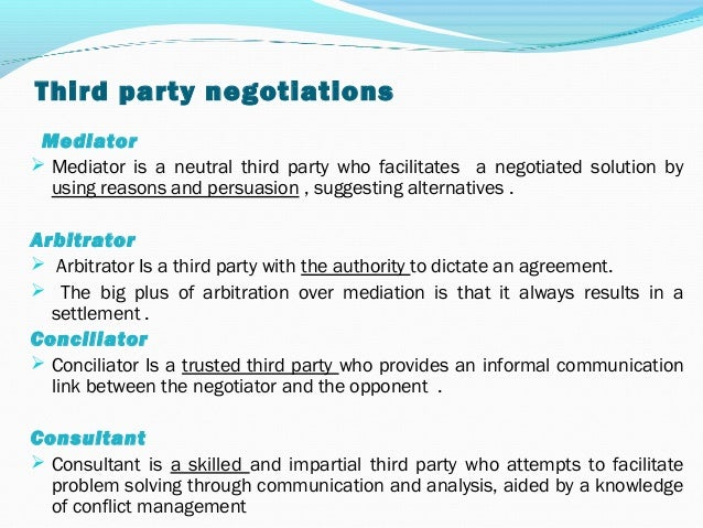 Conflicts negotiations in organizations - Difference entre conciliation et mediation ...