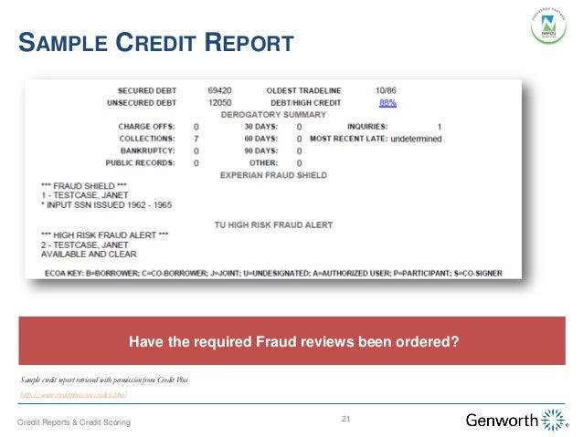 Understanding Credit Reports And Credit Scoring Webinar Slides
