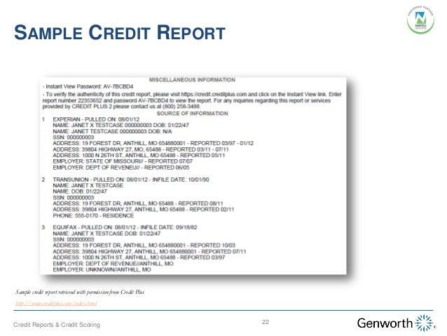 Understanding Credit Reports and Credit Scoring (Webinar Slides)