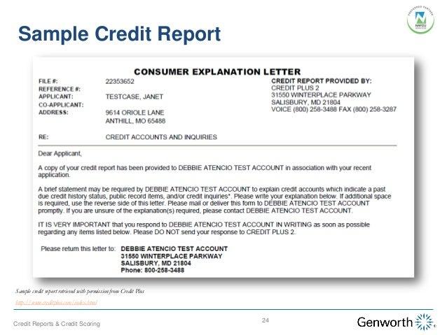 understanding credit reports and credit scoring webinar slides letter of explanation for derogatory credit