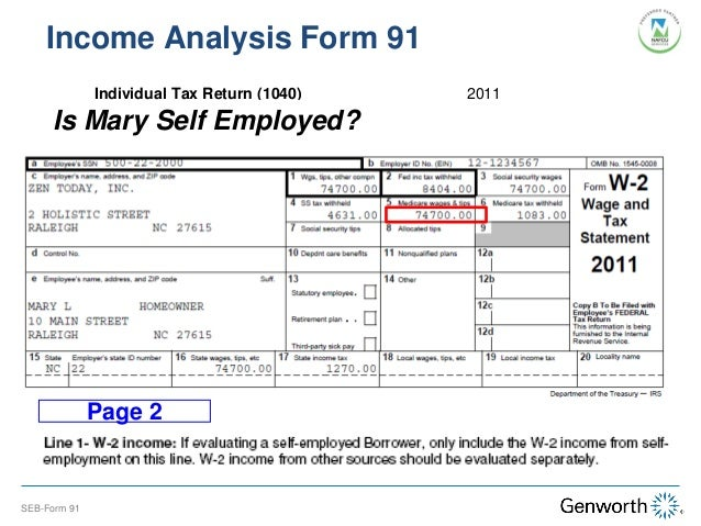 Printables Self Employed Income Analysis Worksheet self employed borrower case study part i completing the form 91 income analysis