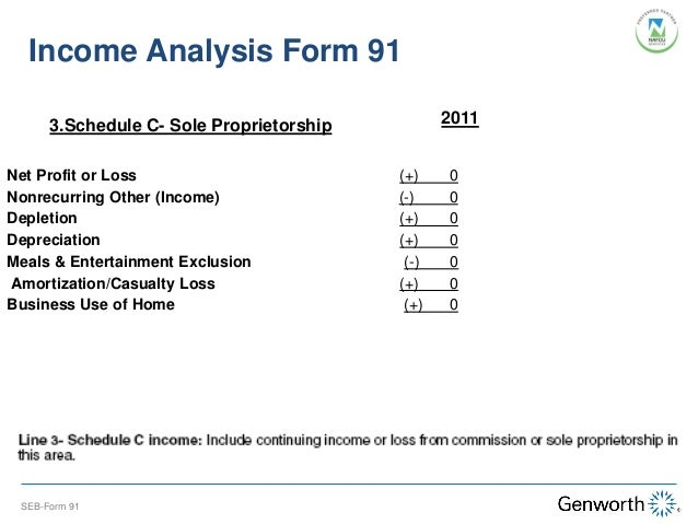 Self Employed Borrower Case Study Part I Completing The Form 91 Wit