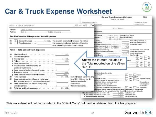 self employment tax deduction worksheet communities first