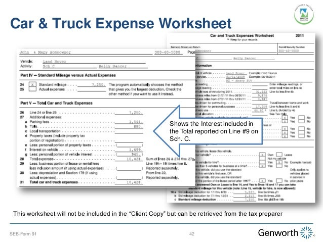 car truck expense worksheet