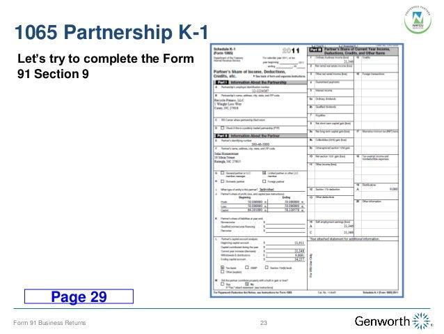business tax: k1 business tax returns