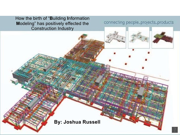 """How the birth of """" B uilding  I nformation  M odeling"""" has positively effected the Construction Industry By: Joshua Russell"""
