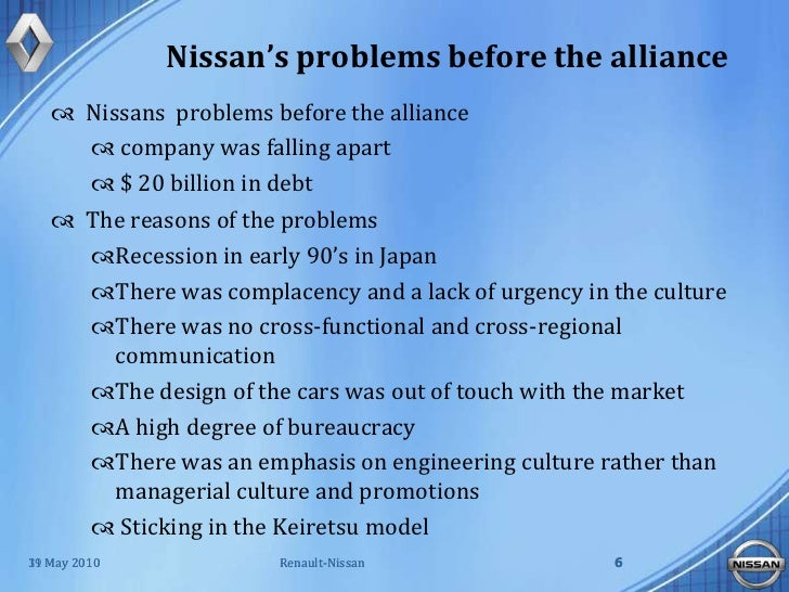 the alliance between renault nissan marketing essay Groupe renault is a french multinational automobile manufacturer established  in 1899  by 2017, the renault–nissan–mitsubishi alliance had become the  world's  the partnership resulted in the marketing of jeep vehicles in europe   part of amc's overall strategy was to save manufacturing cost by using renault .