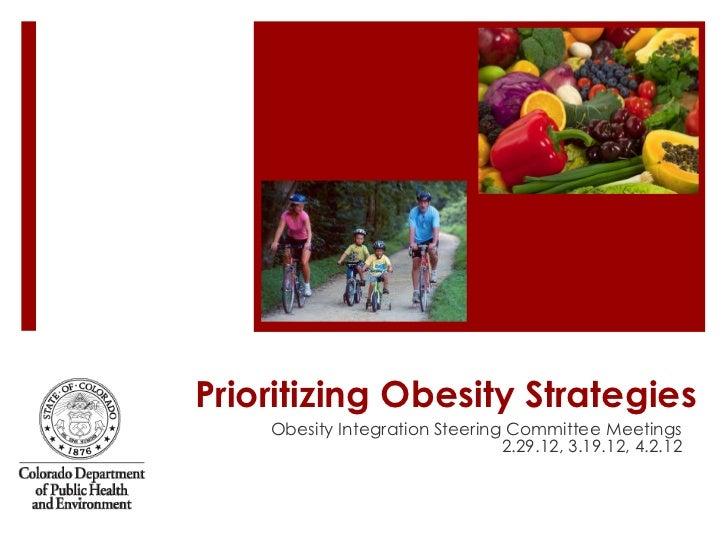 Prioritizing Obesity Strategies    Obesity Integration Steering Committee Meetings                                2.29.12,...