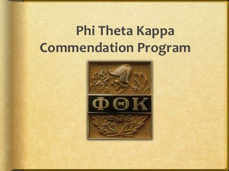 Phi Theta Kappa Commendation Program<br />