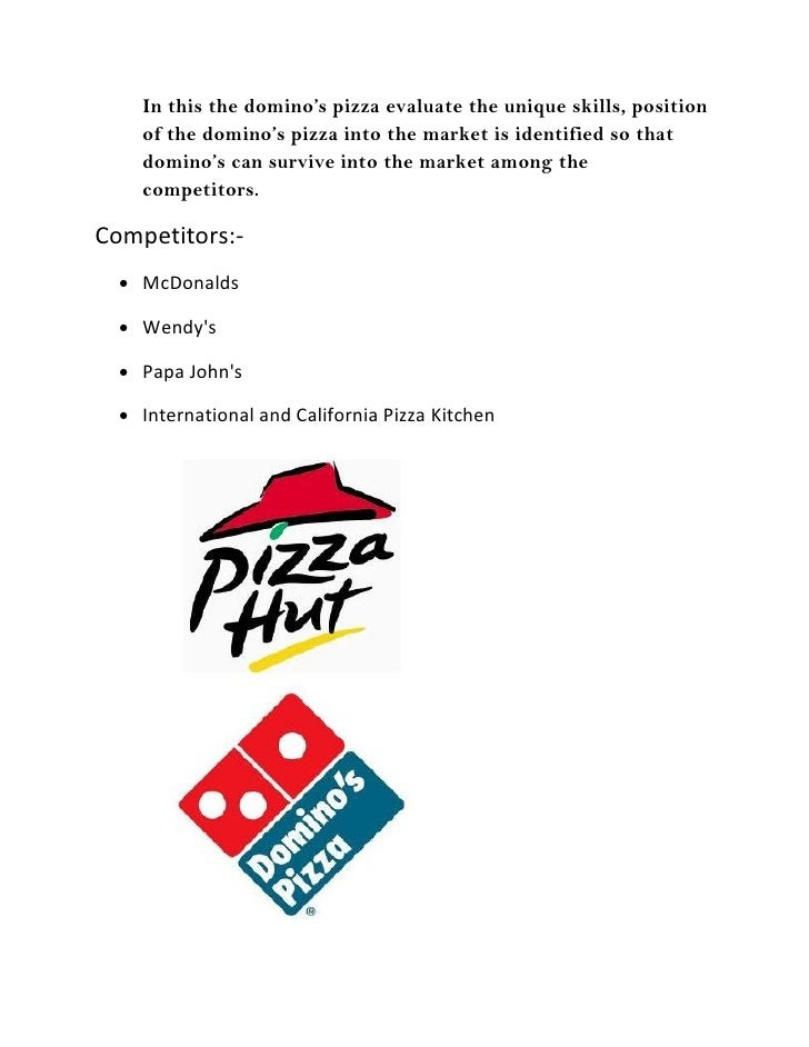 swot analysis of dominos pizza The domino's pizza, inc - swot analysis company profile is the essential source for top-level company data and information domino's pizza, inc - swot analys.