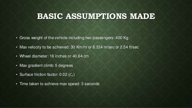 Presentation on Solar Car Slide 3