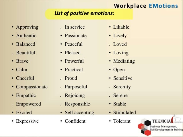 how to avoid emotions in the workplace