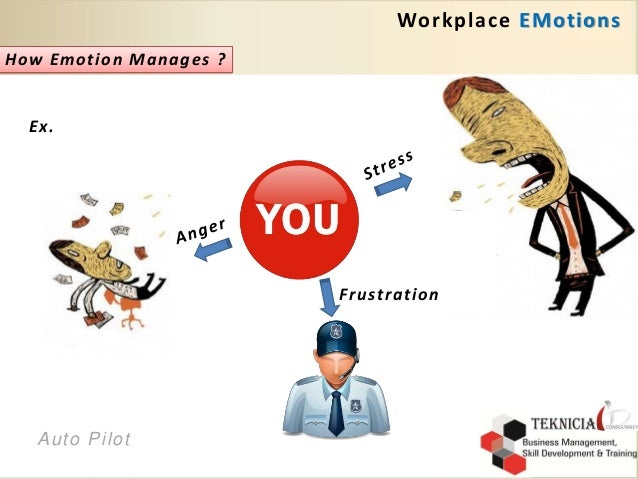 emotions in the workplace Emotions should be an economic concern as much as it is a concern of individual behavior, social interaction, health, and cultural transactions because they influence the creativity and productivity.