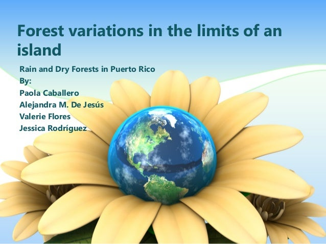 Forest variations in the limits of an island Rain and Dry Forests in Puerto Rico By: Paola Caballero Alejandra M. De Jesús...