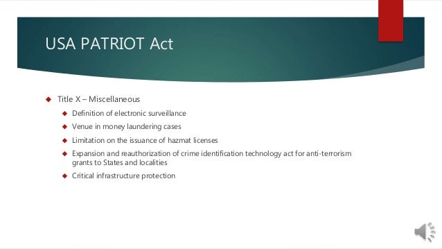 the constitutional nature of the usa patriot act Usa patriot act news find breaking news, commentary, and archival information about usa patriot act from the latimes.