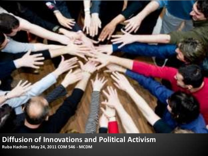 Diffusion of Innovations and Political Activism<br />Ruba Hachim : May 24, 2011 COM 546 - MCDM<br />