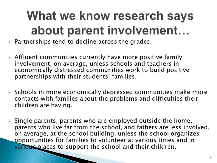 research on parental involvement and student achievement