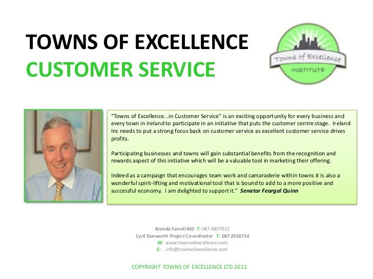 "TOWNS OF EXCELLENCE CUSTOMER SERVICE<br />""Towns of Excellence...in Customer Service"" is an exciting opportunity for every..."