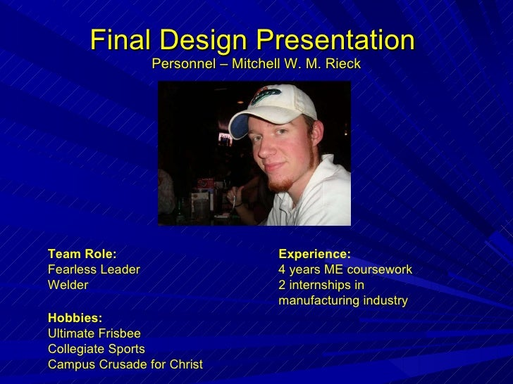 MBA Internship Final Presentation Tips