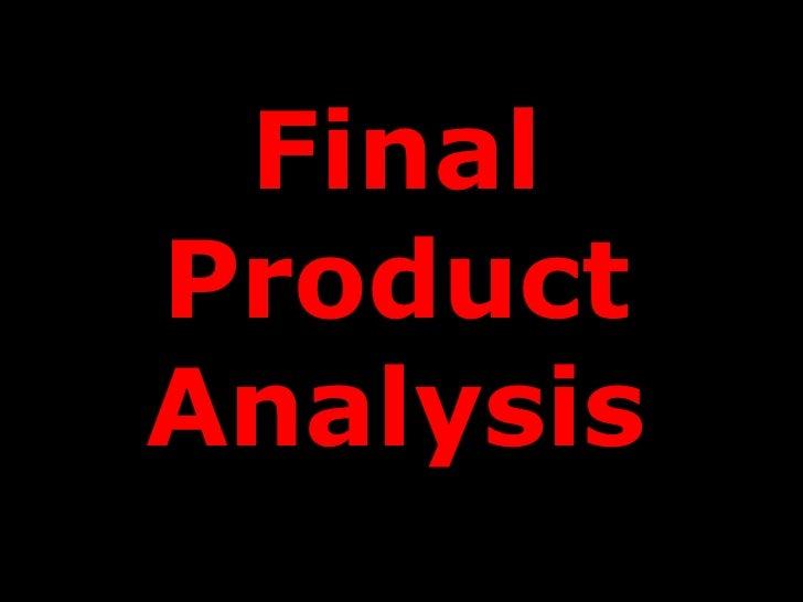 FinalProductAnalysis